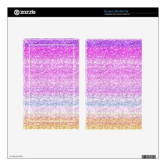 Color Spectrum Sparkle Effect Kindle Fire Skin