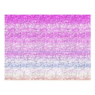 Color Spectrum Sparkle Effect Postcard
