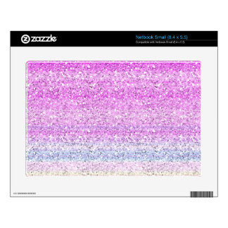 Color Spectrum Sparkle Effect Skin For Small Netbook