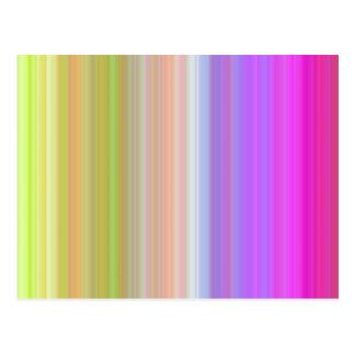 Color Spectrum Stripes Postcard