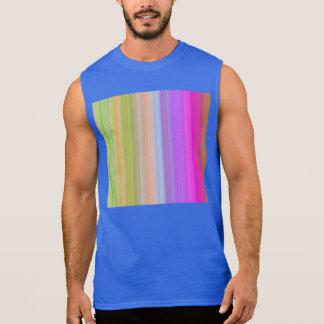 Color Spectrum Stripes Sleeveless Shirts