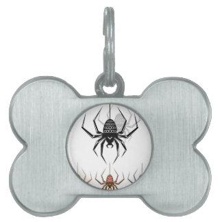Color Spider Vector Art Pet ID Tag