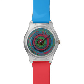 color spiral time watch