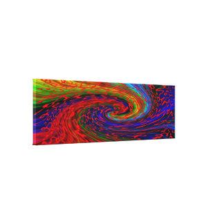 Color spirals canvas print