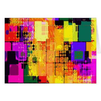 Color Splash Abstract Art Geometric Patterns Card