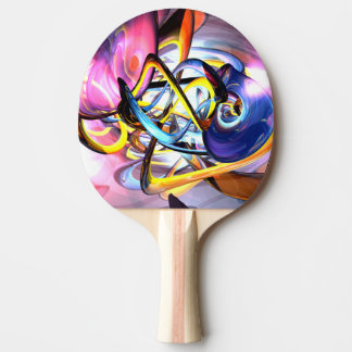 Color Splash Abstract Ping Pong Paddle