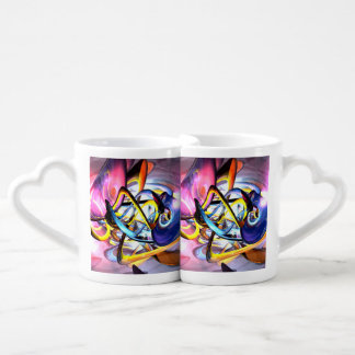 Color Splash Abstract Lovers Mugs