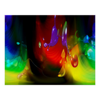 color splash abstract print