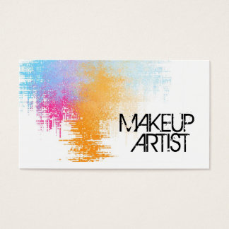 Color Splash Artist Business Card