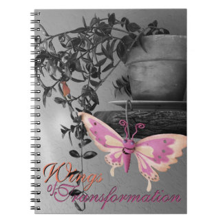 Color Splash Butterfly Still Life Photograph Notebook