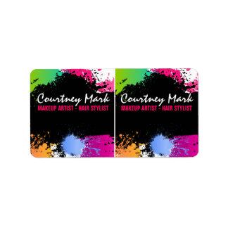 Color Splash Custom Kit Product Labels Personalized Address Labels