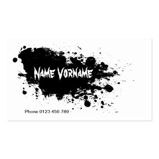 color splash Double-Sided standard business cards (Pack of 100)