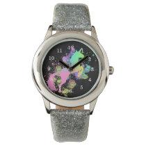 Color Splash Fantasy Rainbow Unicorn Wrist Watch
