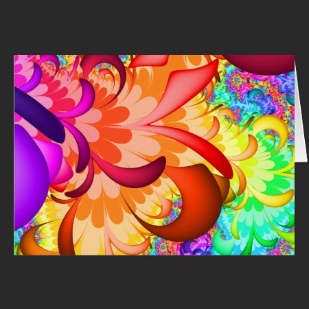 Color Splash Fractal Card