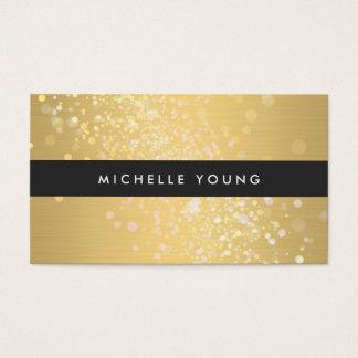 Color Splash in Gold and Black for Makeup Artists Business Card