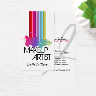 Color Splash Makeup Artist Business Card