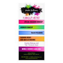 Color Splash Makeup Artist Promotional Rack Card
