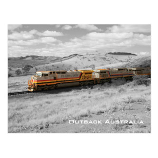 Color Splash Photograph - Outback Freight Train Postcard