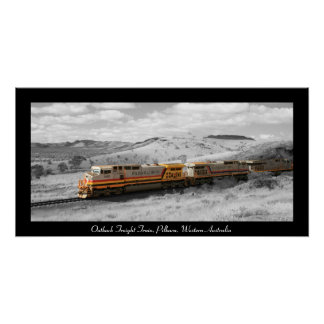 Color Splash Photograph - Outback Freight Train Poster