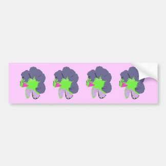 Color Splash/ PopArt Flower Bumper Sticker