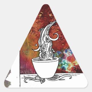 Color Splash Tea! Pour me a Magical Cup of Tea! Triangle Sticker