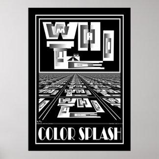 COLOR SPLASH WHITE POSTER