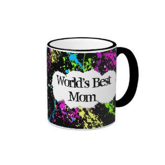 Color Splash World's Best Mom Ringer Mug