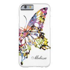 Color Splashed Butterfly Iphone 6 Case at Zazzle