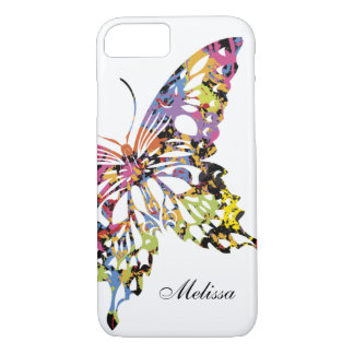 Color Splashed Butterfly iPhone 7 case