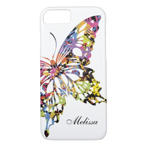 Color Splashed Butterfly iPhone 8/7 case Phone Case