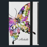 "Color Splashed Butterfly Powis Case For iPad Mini<br><div class=""desc"">The butterfly is filled with yellow,  pink,  light blue,  lime,  red and black on the white background. The text is in black and it&#39;s customizable and this is a digital illustration.</div>"