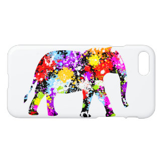 Color Splashed Elephant Custom iPhone 8/7 Case