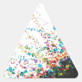 Color Splatter Comboniations Triangle Sticker