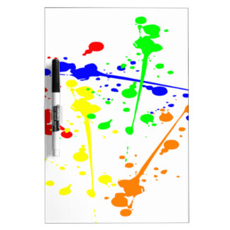 color splatter diy colorful paint splash dryerase board - Dry Erase Board Paint