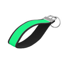 color spring green wrist keychain