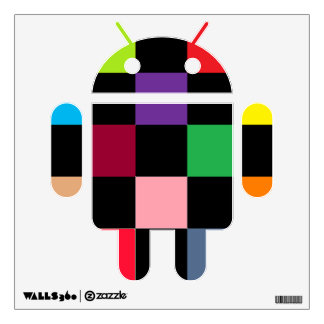 Color square Android Wall Decal