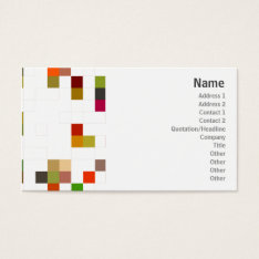 Color Square - Business Business Card at Zazzle