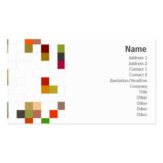 Color Square - Business Business Card Template