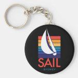 Color Square_SAIL_Sydney del barco en llavero negr