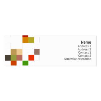 Color Square - Skinny Mini Business Card