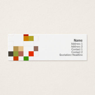 Color Square - Skinny Mini Business Card