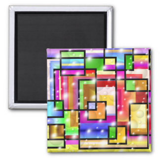 Color Squares 2 Inch Square Magnet