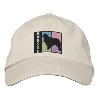 Color Squares Australian Shepherd Embroidered Baseball Caps