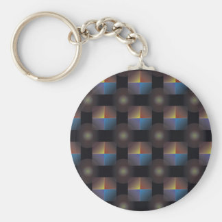 Color Squares Basic Round Button Keychain