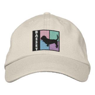 Color Squares Basset Hound Baseball Cap