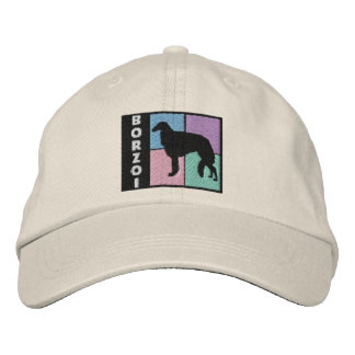 Color Squares Borzoi Embroidered Baseball Cap