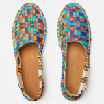 Color squares espadrilles