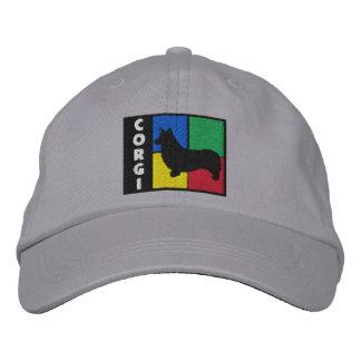 Color Squares Pembroke Welsh Corgi Embroidered Baseball Hat