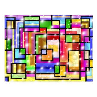 Color Squares Postcard