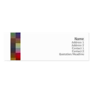 Color Squares - Skinny Double-Sided Mini Business Cards (Pack Of 20)